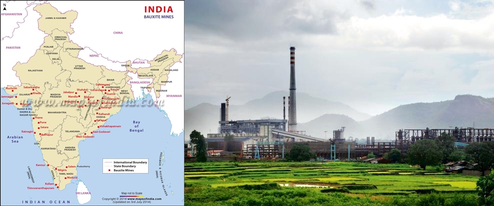 India bauxite mines & Niyamgiri