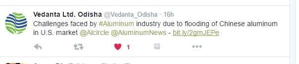 aluminium tweet